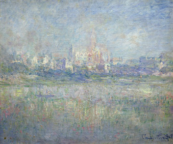 MMT 158888 Vetheuil in the Fog, 1879 (oil on canvas) Monet, Claude (1840-1926) MUSEE MARMOTTAN MONET, PARIS, ,