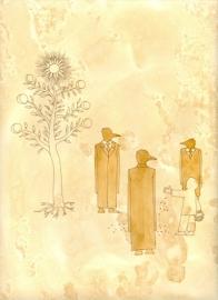 Lolita Timofeeva Riflessioni ermetiche 17. Hermenirico onirmetico (particolare), 2008 Caffè, inchiostro su carta