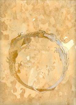 Lolita Timofeeva Riflessioni ermetiche 42. Solve e coaugula (particolare), 2008 Caffè, inchiostro su carta