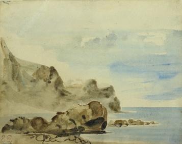 07_DELACROIX Falaises à Dieppe v. 1834