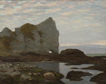 08_MONET Etretat 1864